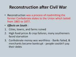 how to write a good reconstruction after the civil war essay as well the government was involved in altercations of its own the failure of the post civil war reconstruction period in america