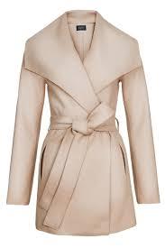 Sentaler Designer Wide Collar Wrap Coat New Sentaler Luxury Designer