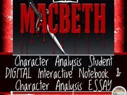 shakespeare s macbeth character analysis digital and printable lesson plan