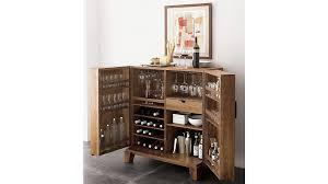 Small bar furniture Bedroom Crate And Barrel Marin Natural Bar Cabinet Reviews Crate And Barrel