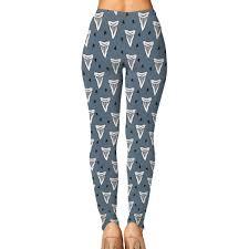 Shark Tooth Size Chart Amazon Com Womens Shark Tooth Week Leggings Yoga Long