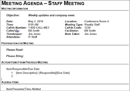 The 40 Best Meeting Agenda Templates For Microsoft Word Fascinating Business Meeting Agenda Format