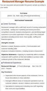 5 restaurant manger resume sample restaurant manager resume template