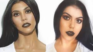 kourtney kardashian makeup look cisel