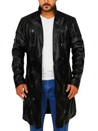 black trench coat for men black leather trench coat men