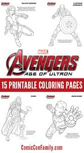 S extraordinary universe faced e? Free Kids Printables Marvel S The Avengers Age Of Ultron Coloring Pages Comic Con Family