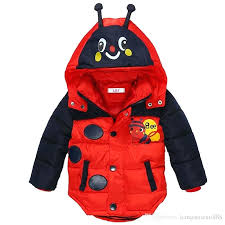 winter jacket kids baby boys for bees hooded down warm outerwear children clothes infant coat waterproof winter jacket kids