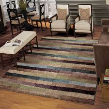 Carolina Weavers Grand Comfort Collection Cool Stripes Multi Shag Area Rug  (7'10 x 10'10) - Free Shipping Today - Overstock.com - 17547526