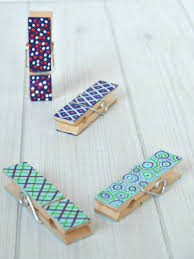Make these easy wooden clothespin crafts in just minutes to give as  Father's Day gifts or