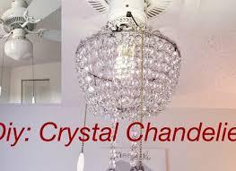 diy real crystal chandelier lighting