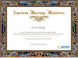 Sondra Bentley Officiant Profile | American Marriage Ministries