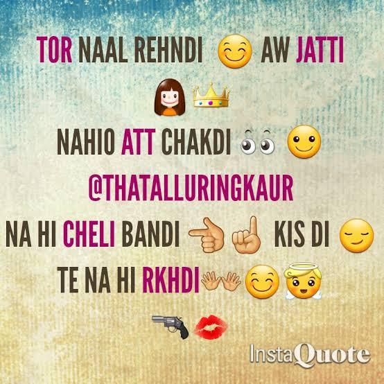 punjabi att status for jatti in english