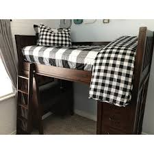 beddy s twin black and white checked out bedding collection