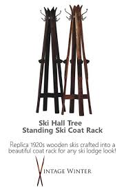 Vintage Ski Coat Rack 100 best Vintage Antique Skis images on Pinterest Vintage winter 44