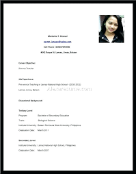 High School Student Resume Examples For Jobs First Job Resume