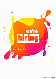 We are hiring, poster design for advertising concept with colorful fluid  art abstract on white background. - Buy this stock vector and explore  similar vectors at Adobe Stock   Adobe Stock