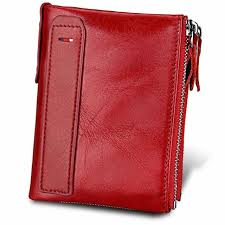 womens wallet rfid blocking genuine leather credit card holder for