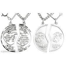 mizpah sterling silver marine corps medal
