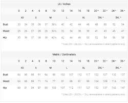 Waist Size Conversion Chart Us And Metric Size Charts Colette Hq