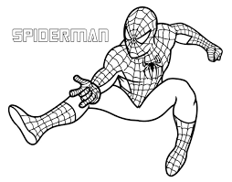 Spider Man Superhero Coloring Pages