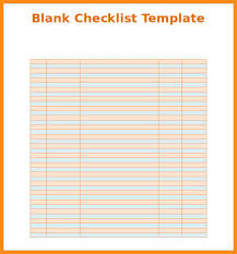 Simple Checklist Template Simple Checklist Template Tirevi Fontanacountryinn Com