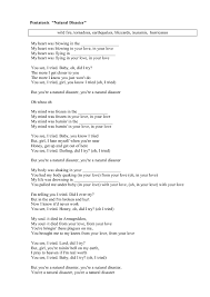 natural disasters lessons information reports natural disasters  song worksheet natural disaster by pentatonix