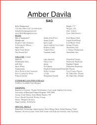 Actor Resume Template Free Ideas Of Child Acting Resume No Experience Best Actor Resume 24