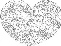 Hearts Coloring Pages Pdf Valentine Heart Coloring Page Pages Kids