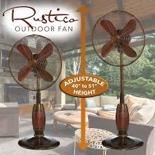 outdoor fans for patios best of rustico outdoor patio standing pedestal fan
