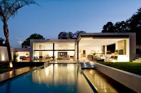 ... Amazing Modern Homes For Your Ideas : Astonishing Modern Homes With  Blue Swimming Pool And Fancy ...