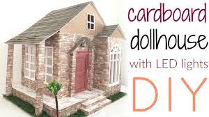 lighting for dollhouses. DIY: Cardboard Dollhouse With Lights Lighting For Dollhouses