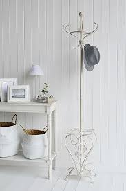 Hallway Furniture Coat Rack Impressive Stamford Antique White Coat Stand Rack Elegant Hall Furniture The