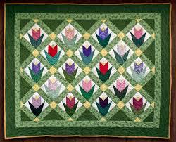168 best Quilts - Tulip Quilts images on Pinterest | Quilt block ... & March Tulips Quilt Adamdwight.com