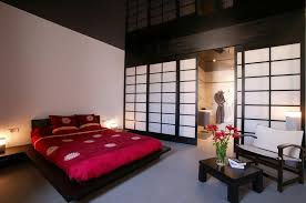 japanese style bedroom furniture. Epic Bedroom Japanese Sets With Red Bedding Set Also Black Wooden Couch Bed Plus White Chair Style Furniture