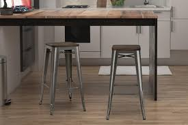 metal bar stools with wood seat. Fusion 30\ Metal Bar Stools With Wood Seat