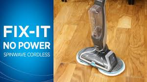 what to do if your bissell spinwave cordless hard floor spin mop has no power