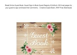 photo guest sign in book read online guest book guest sign in book guest registry 8 5x6inch 1