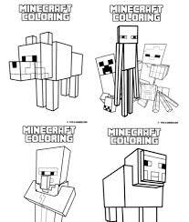 マインクラフト Minecraftのぬりえが無料ダウンロードできるサイト