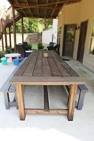 varnish patio table diy outdoor table