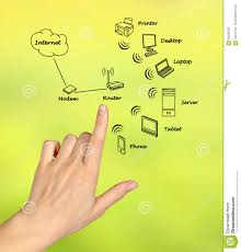 Home Network Diagram Stock Image Image Of Concept Drawing