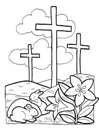 New Easter Cross Coloring Sheets Virancultureorg