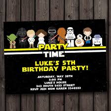 013 Star Wars Birthday Invite Template Ideas Sensational