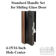 handle set sliding patio door standard handle height extruded aluminum black