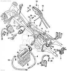 honda cb160 sport 1964 usa wire harness battery schematic label