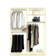 Sturdy Hanging Closet Organizer Custom Closets Double Hanging Plus