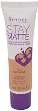 Rimmel Stay Matte Liquid Mousse Foundation 203 True Beige