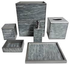 Dark Grey Bathroom Accessories alessi birillo cotton swabs holder