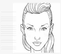 blank face chart temples makeup design makeup face chart transpa png 3022016