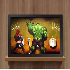 toilet hulk thor joker spider man wolverine marvel heroes funny toy poster wall pictures canvas print on marvel spiderman canvas wall art 4 piece with toilet hulk thor joker spider man wolverine marvel heroes funny toy