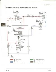 425 ignition motor cranks when key is turned to run schematic jpg jd425 cranking circuit jpg